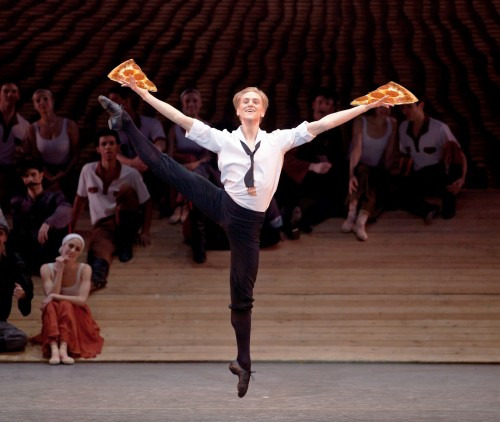 reaching for pizza - david hallberg