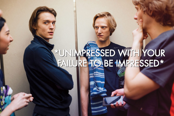 Unimpressed David Hallberg